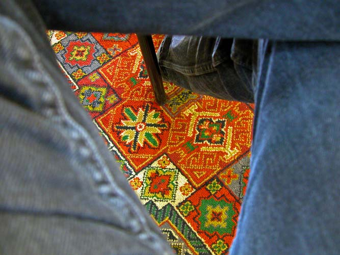 Colourful carpet on the floor