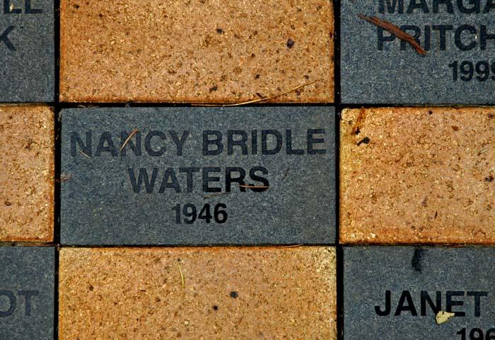 A graduate's brick in the
