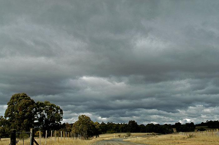 Dark foreboding clouds