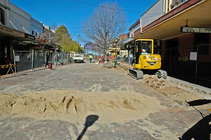 Revamping the town pedestrian Mall