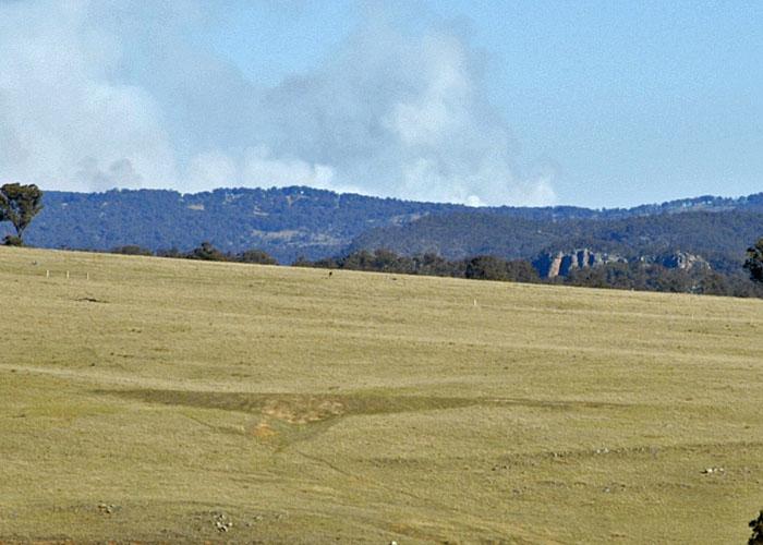 Bushfire not too far away