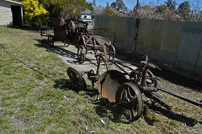 Old forgotten farm machinery