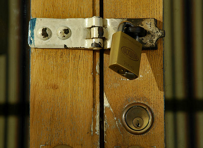 Locks on door