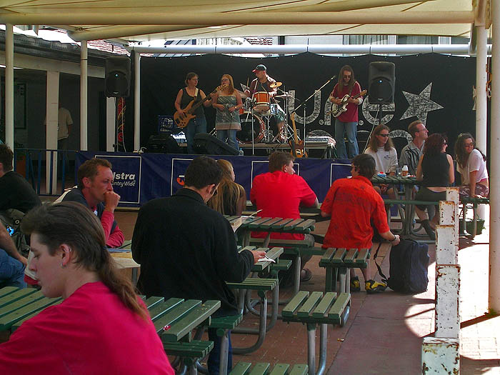 Band plays at lunchtime