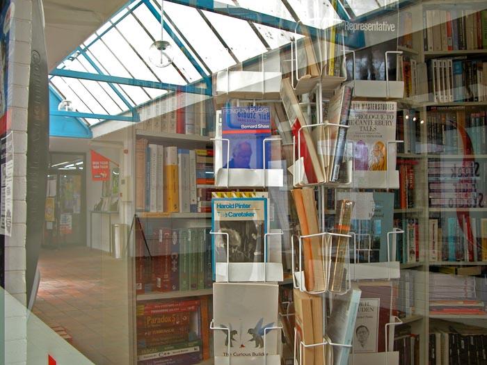 Secondhand-book shop window