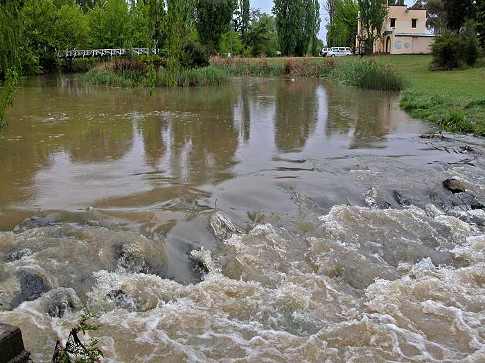 Creeklands: with water flowing in creek