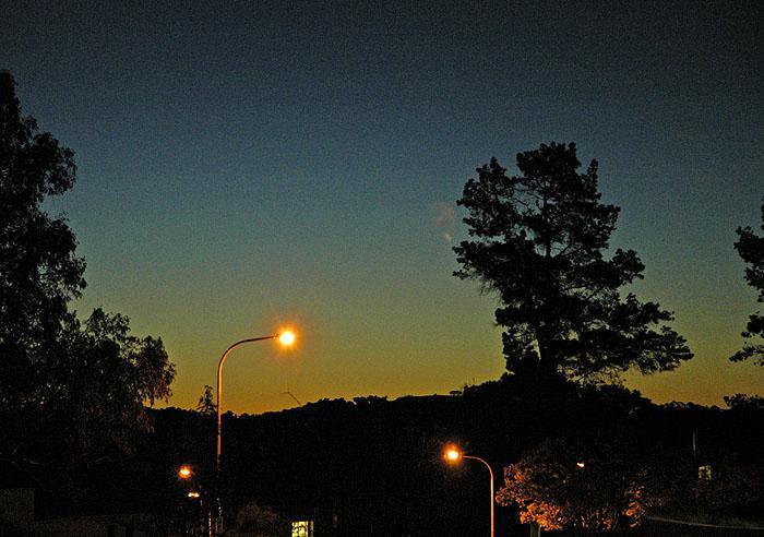 Day no more - sun has set