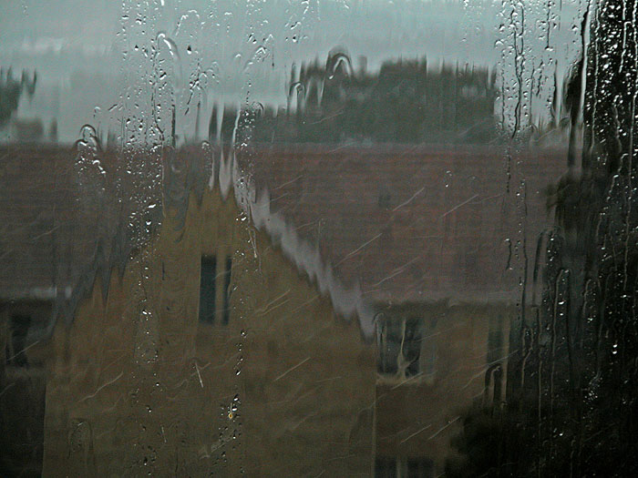 Rain at window