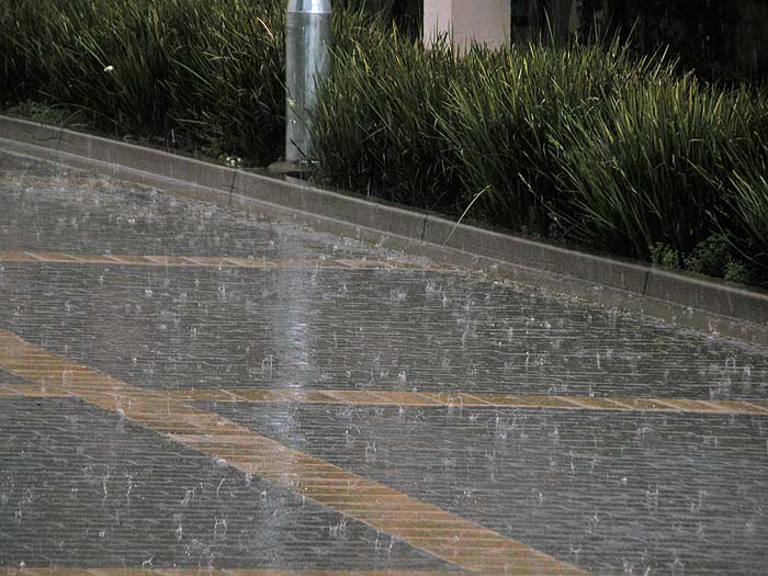 Rain on pavers