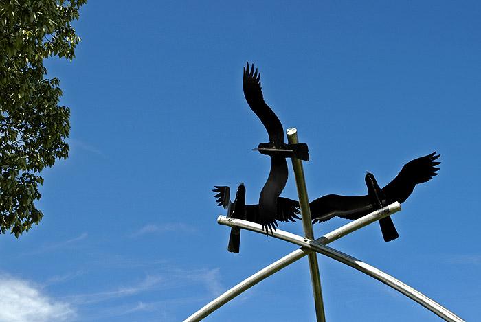 Birds in flight - sculpture