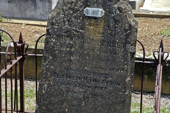 Two sisters, one died in 1894, the other in 1945