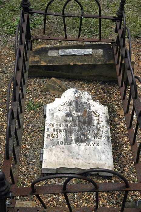 Died 1889, aged 2 days