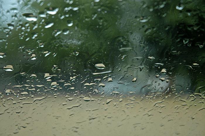 Rain on the windscreen