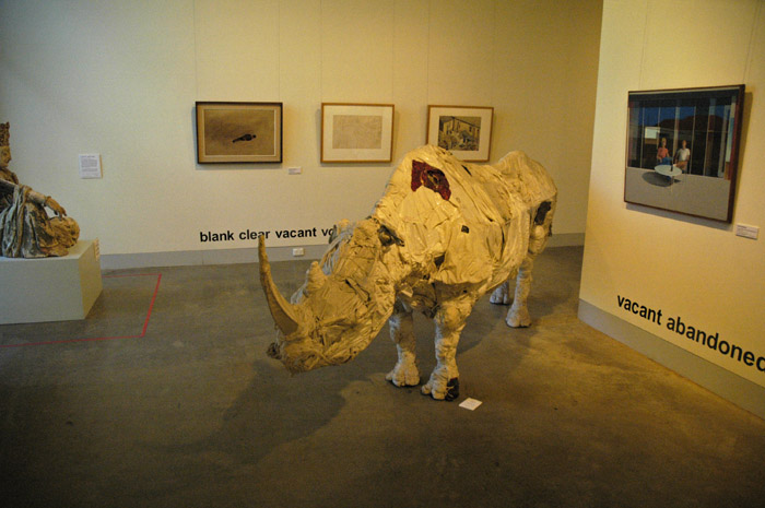Rhino made from clothing