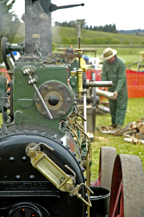 Steam driven saw