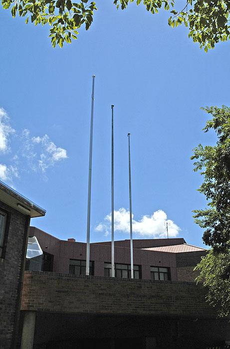 Facade and flagpole 2