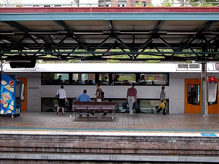 Platform 20 at Central Station, Sydney