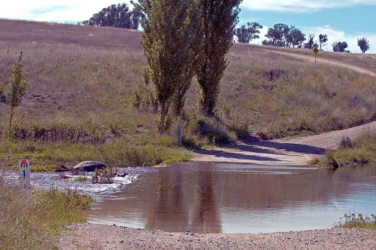 Gara River crosses Gara Road