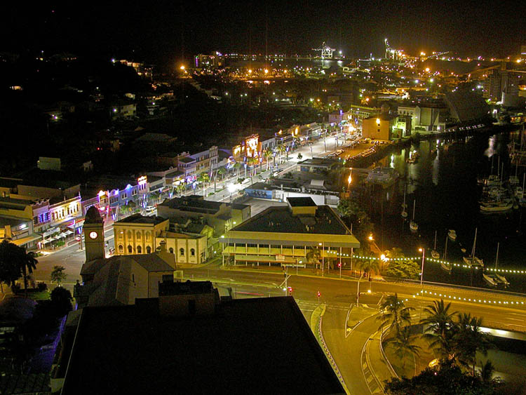 Townsville at night