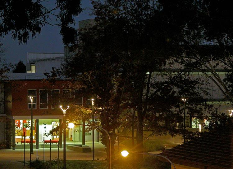 Dixson as night falls