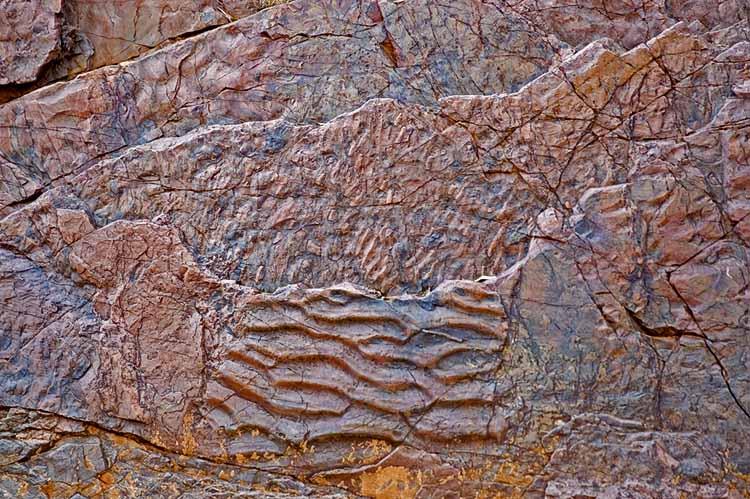 Fossilised sand ripples