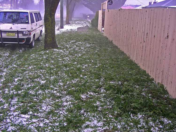 Hailstone damage
