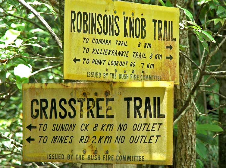 Fire trail signs