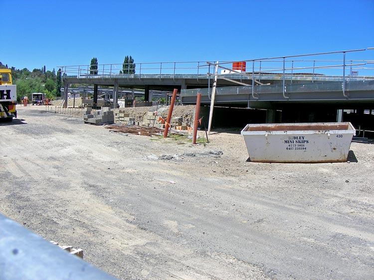 Former gasworks site, now construction site