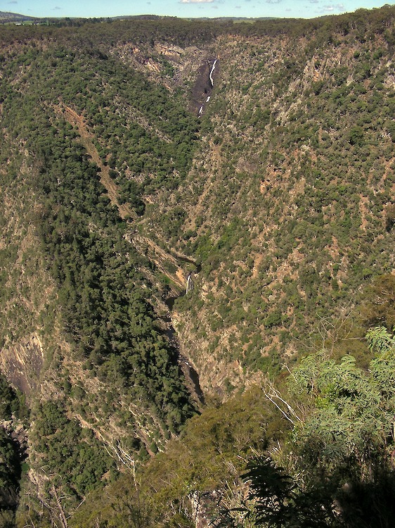 Several waterfall drops