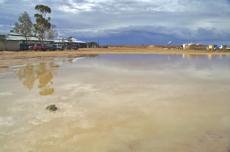 Innamincka Hotel and Store (and puddle)