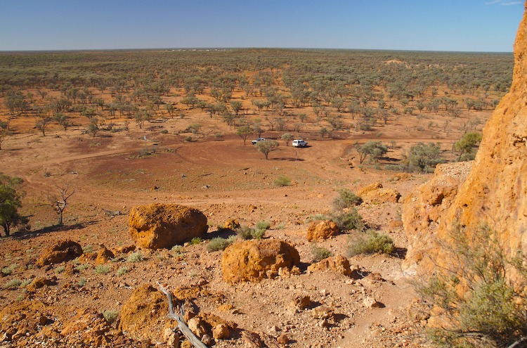 Quilpie in the distance