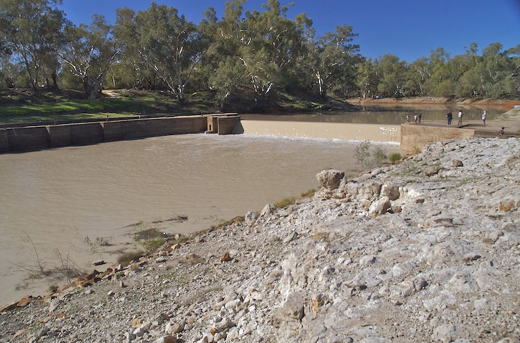 Weir on Darling River at Bourke
